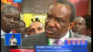 Four aspirants cleared to vie for presidency after they satisfied all requirements