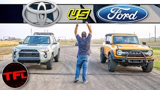 Bronco vs 4Runner - I Thought This Drag Race Was Idiotic...But Then The Ringer Showed Up!