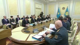 Заседание совета безопасности РК под председательством Президента
