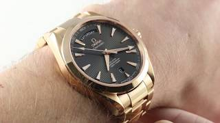 93ae5244484f Omega Seamaster Aqua Terra 150m Day-Date 231.50.42.22.06.001 Luxury Watch  Review
