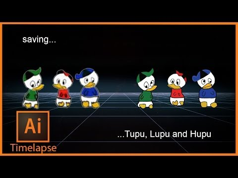 Adobe Illustrator Timelapse - Saving Tupu, Lupu end Hupu