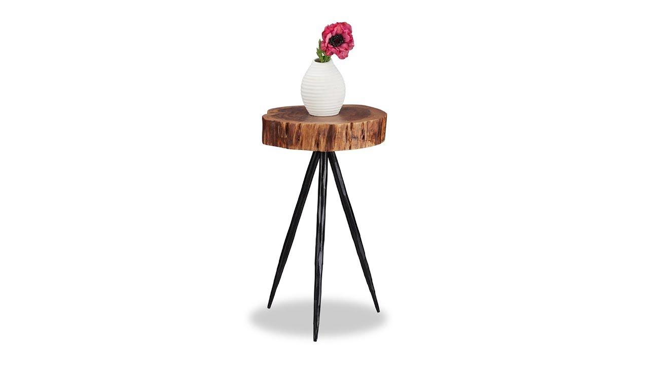 Video von: Design Beistelltisch Holzscheibe