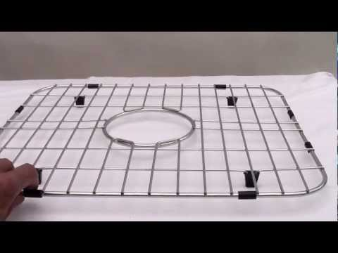 Video for Solid Stainless Steel Kitchen Sink Grid