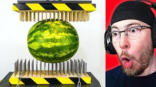 1000 Nails VS 1 Watermelon! You Wont Believe What Happened!