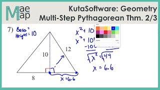 KutaSoftware: Geometry- Mulit-Step Pythagorean Theorem Problems Part 2