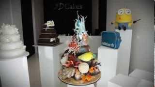 360° 3D Cakes Underwater Scene 360°