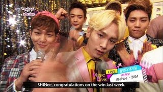 [Music Bank w/ Eng Lyrics] Hot Backstage! with SHINee & 2AM (2013.04.06)