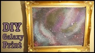 DIY GALAXY PRINT ✩ How To