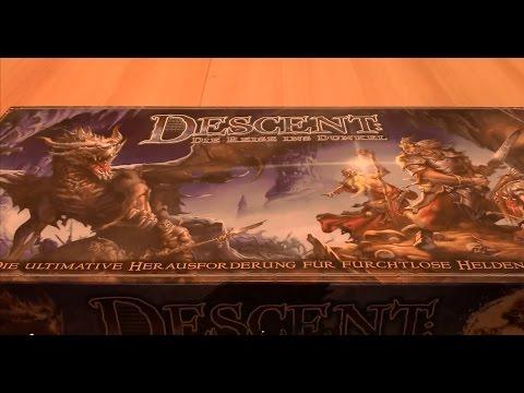 Brettspiel - Descent: Die Reise ins Dunkel #01 - Unboxing - Rollenspiel Dungeoncrawler