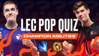 #LEC Pop Quiz - Champion Abilities