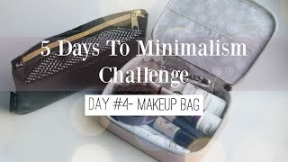 Minimalism Challenge - Day 4 Make Up Bag ♡ NaturallyThriftyMom + Lavendaire