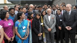 preview picture of video 'PM Modi's visit to CNES in Toulouse'
