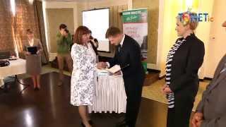 preview picture of video 'Beata Harań burmistrz Dobrego Miasta wręczenie podziękowań przedsiębiorcom Dobre Miasto Tonetic'