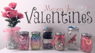 DIY Mason Jar VALENTINES - Easy Gifts & Room Decor - How To | SoCraftastic