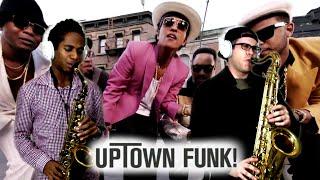 UPTOWN FUNK! - Mark Ronson & Bruno Mars - Tenor & Alto Sax Cover - BriansThing & Jacob Scesney 🎷