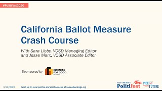 California Ballot Measure Crash Course