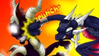 Cynder knocks the black off Spyro