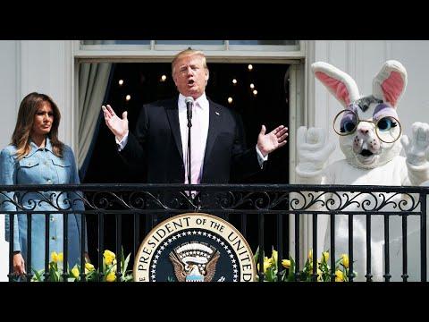 Kids Join President Trump for Easter Celebration