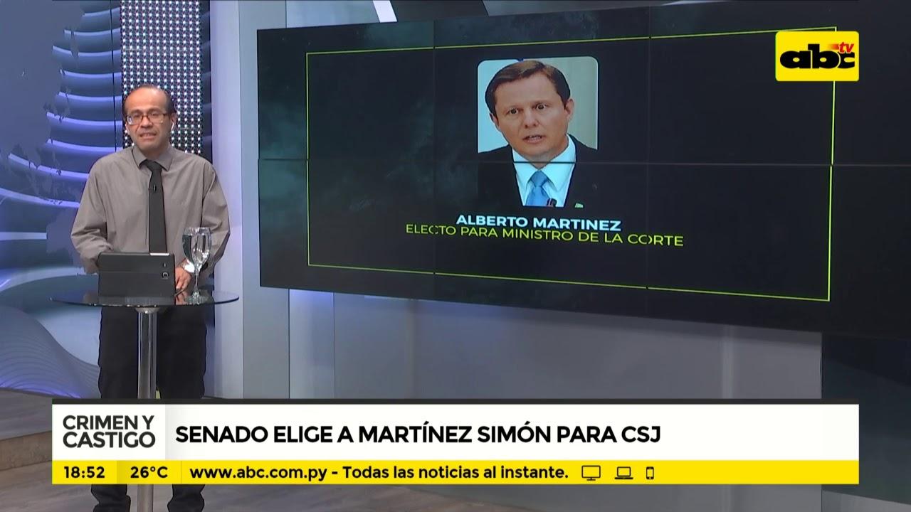 Senado elige a Martínez Simón para CSJ