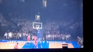 Dj augustin makes a full court shot