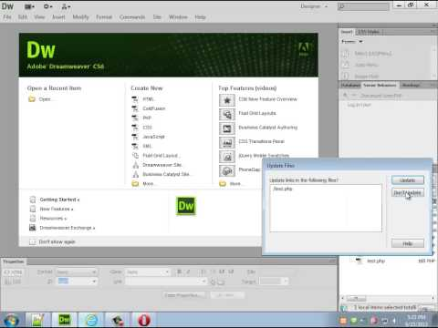 Creating a CMS with Dreamweaver part 1