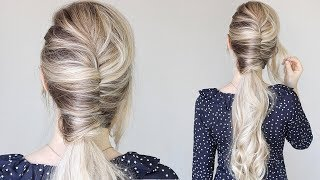 How To: EASY French Twist Ponytail