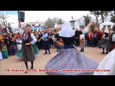 Grupo Folklòrico TALL VERMADORS de Binissalem (Mallorca) en Ibiza 2018 - 3º