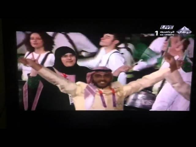 لحظة دخول الوفد السعودي في افتتاح أولمبياد لندن 2012