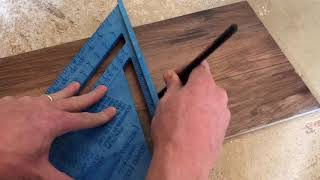 How to make Custom Cuts on Luxury Vinyl Plank with a Jigsaw