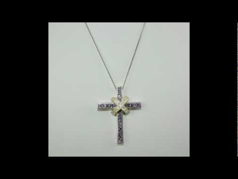 YuMostar: Designer Kreuz Anhänger 925 Silber Zirkonia