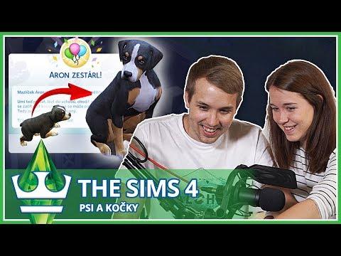 Jirka a Katka - THE SIMS 4 Psi a kočky - Aron nám vyrostl!