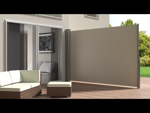 TecTake - Toldo lateral de aluminio separador retráctil terraza protección