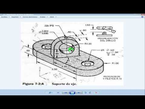 soporte de eje 3D en autocad