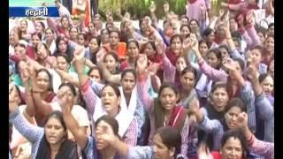 केंद्र सरकार कर रही है अनदेखी- आंगनबाड़ी Haldwani Anganwadi Workers Protest