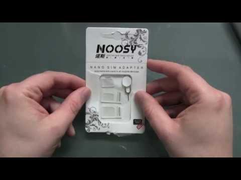 Noosy SIM Adapter Kit - Nano Micro Normal - Unboxing