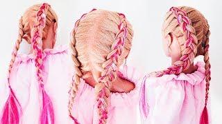 ★ Цветные косы ★ lifehack: Чем Заменить КАНЕКАЛОН ? !!★Dutch Braid With Extensions ★LOZNITSA