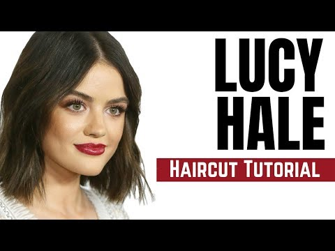 Lucy Hale Haircut Tutorial - Bob Haircut 2018 - TheSalonGuy