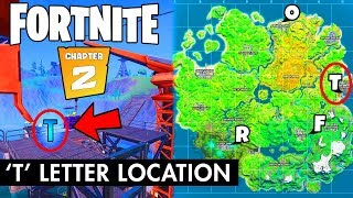 FORTNITE T LETTER LOCATION REVEALED *WITH PROOF* (Chapter 2 Challenges)