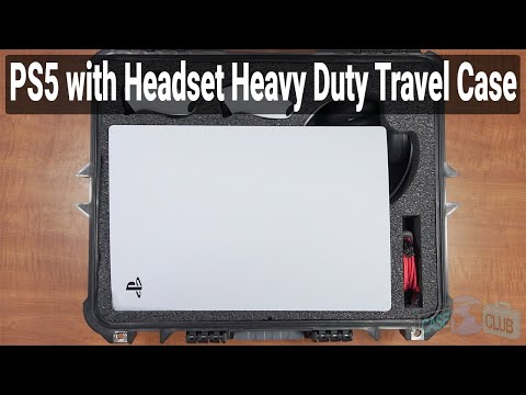 PlayStation 5 with Headset Heavy Duty Travel Case (Gen-2) - Featured Youtube Video