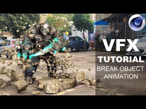 VFX Tutorial | Break Object Animation Cinema 4D | Realistic Compositing