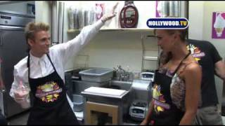 Aaron Carter and Karina Smirnoff Hit Millions of Milkshakes