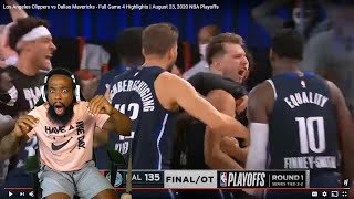 LUKA OVERTIME GAME WINNER!! Los Angeles Clippers vs Dallas Mavericks- Full Game 4 NBA Playoffs