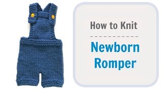 How To Knit Newborn Baby Romper