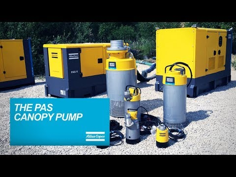 Meet the PAS Centrifugal and Piston Pumps with Vacuum Pump. Efficiency and Versatility Atlas Copco - zdjęcie