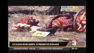 Hallan cadáver de mujer en zona boscosa de Totonicapán