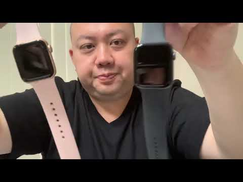 APPLE WATCH SERIES 4 INITIAL SET UP AND COMPARISON VIDEO 40mm VS 44mm