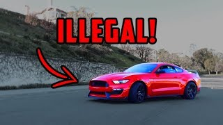 Mustang Shelby GT350R illegal in CALIFORNIA due to EXHAUST LAW?!