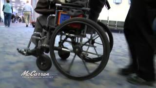 For passengers who need assistance getting around the airport courtesy wheelchair service