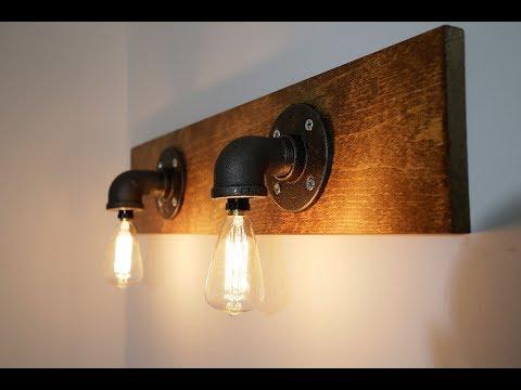 DIY Light, Basement Bath