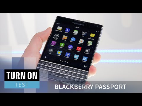 Youtube Video Blackberry Passport mit QWERTZ-Tastatur in white